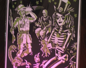 Vince Ray 11x17 Original Art Print PoStEr VOODOO DOLL Spook Show Tribal Retro Spooky Pulp