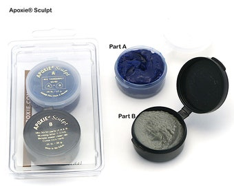 KIT includes: 46 g BLUE Apoxie Sculpt & 25 Snap Bases -  DIY, Snap Jewelry, Aves, Apoxie Sculpt, Clay Snaps, Found Objects, Steampunk