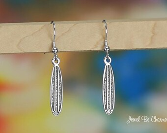 Sterling Silver Surfboard Earrings Pierced Earwires Solid .925 Surfing