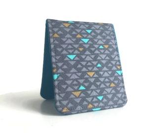 OhSoRetro Super Thin Billfold Wallet / Aztec Turquoise Cotton / Vegan Wallet
