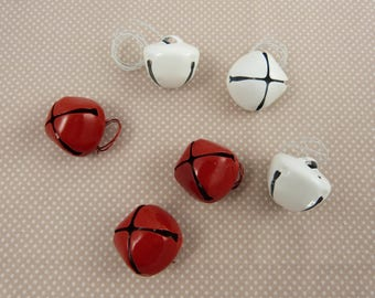 Large metal red and white x 6 bells