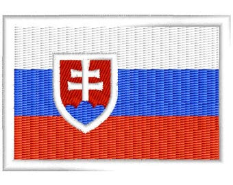 Flag Of Slovakia embroidered patch