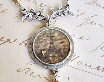 Eiffel Tower Pendant, Effiel Tower Jewelry, French Theme Necklace, Eiffel Tower Necklace, French Eiffel Tower Image, French Theme Jewelry