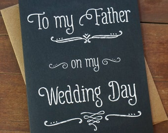 Dad Wedding Card Father Wedding Card To My Father On My Wedding Day Father of the Bride Gift For Father Bride Gift to Dad from Bride