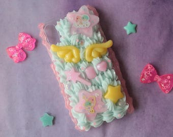 Fits iPhone X Little Twin Stars Decoden Case