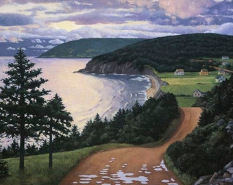 "Dawn, Cape Breton 18"" x 24"" Stretched canvas print by Paul Hannon FREE SHIPPING Canada & US"
