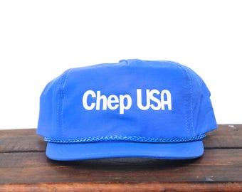 Vintage Trucker Hat Snapback Hat Baseball Cap Chep USA Pallets Minimal