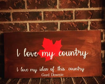 I love my Country Sign
