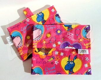 Reusable Sandwich & Reusable Snack Bag Set in DOC MCSTUFFINS print - ECOfriendly - Food Safe - Dishwasher Safe - Back to School