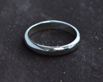 Sterling Silver Band, Sterling Silver Wedding Band, Wedding Band, Sterling Band, Silver Ring, Sterling Ring, Half Round Ring,