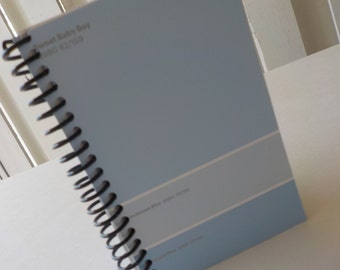 Paint Sample Card Notebook, 5.0 X 3.25, 100 Sheets, School Supplies, Small Spiral Notebook, Blue Notepad, Unlined Book, Blank Book