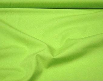 Fabric cotton Poplin kiwi green cotton fabric