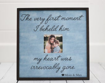 Gift for Mother's Day, Mother Son Frame, Personalized Picture Frame, Mother's Day Gift, Mom Frame, Mother and Son, First Mother's Day 14x14