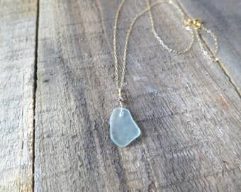 Sea Glass Charm Necklace