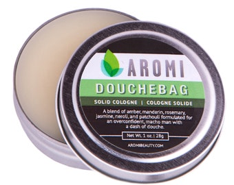 Douchebag Solid Cologne, Funny Men's Gift, White Elephant, Stocking Stuffer, Alcohol Free, Solid Fragrance, Bath and Beauty, Travel Cologne