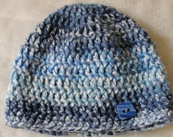 Handmade Crochet Adult Multicolor Winter Beannie.