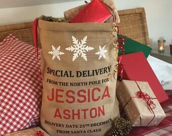 Personalized Christmas Stocking - Christmas Sack