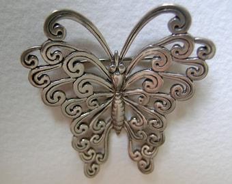 Sterling butterfly brooch              VJSE