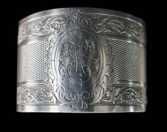 Antique French Sterling Silver Napkin Ring - Cesar Tonnelier 42g - France 19th c