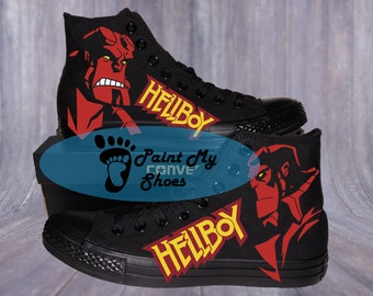 Comic shoes, Converse, hand painted shoes, free shipping in the US
