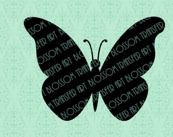 Butterflies Clipart - Iron on transfer - Digital Image - Download for papercrafts, Iron on fabric - Printable Images - DIY - 2204