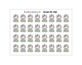 Unicorn Pay Bills Planner Stickers, Matte Glossy, Sticker Sale – 2168