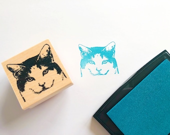 Content Cat Rubber Stamp
