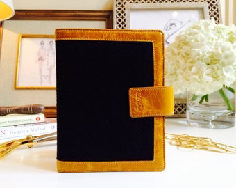 Black Fabric Planner// Academic Leather Planner// Fashionable Planner Cover// 2018 Calendar//Student Planner