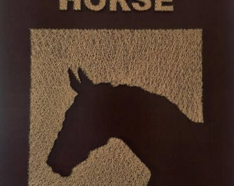 The reverse horse rustic