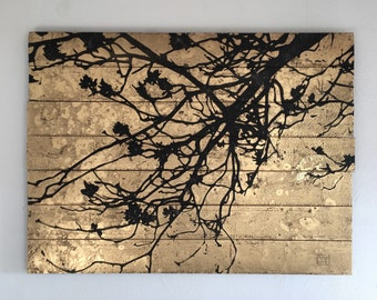 Branch, art, picture, painting,