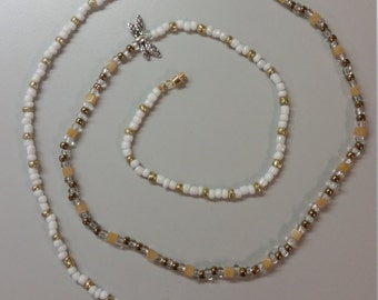 Natural crystal and stones waist beads