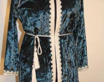 Oriental style velvet jacket
