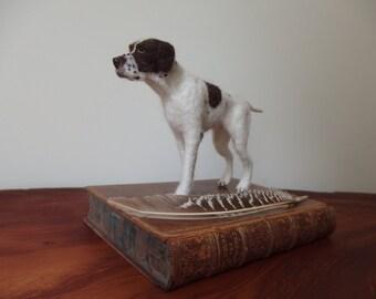 Needle felted dog - English pointer