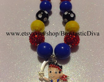 Jake and the neverland pirates chunky necklace