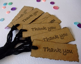 Mini Thank You Tag, Tags, Wedding Tag, Birthday Tags, Birthday, Shower, Scrapbooking, Thanks, Wedding , Anniversary (Set of 12)