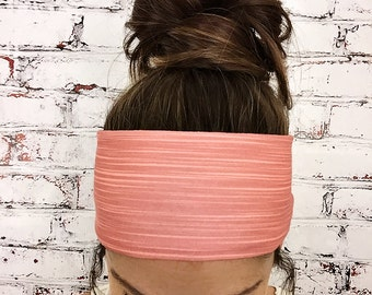 Bamboo Stripes - Coral - Eco Friendly Yoga Headband