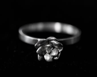 Sterling Silver Succulent Ring- Botanical Jewelry