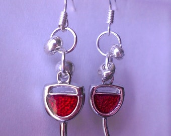 Wine Glass Earrings - Red Wine - White Wine