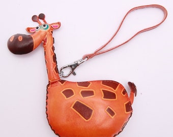 PurseWorld Women Handmade leather Giraffe Purse Bag