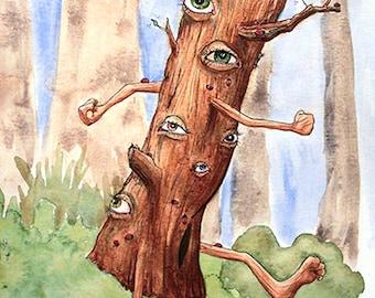Treeman limited edition archival fine art print
