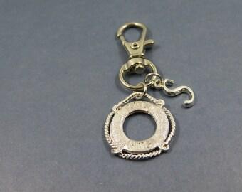 rescue mud keychain -rescue mud keyring - porte clé boueé de sauvetage - initial letter - rescue mud gift
