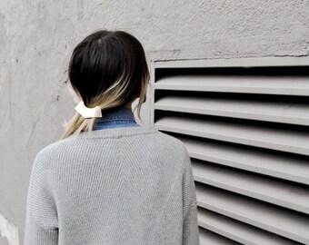 Geometric Barrette, Minimalist Barrette, Geometric Hair Clip, Brass French Barrette, Simple Hair Clip, Thick Hair Barrette | The Charity