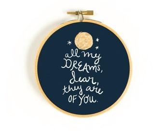 All My Dreams Art Hoop