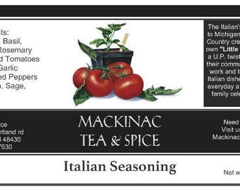 ITALIAN SEASONINGS - Rich red sun dried heirloom tomatoes give this spice its sweetness.