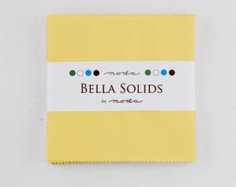 Charm Pack-5 inch squares-Moda-30s Yellow Solid