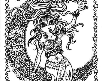 5 pages Belly Dancer coloring pages Digital files Instant Download dance adult coloring/digital/digi/color pages/anime/chibi girls