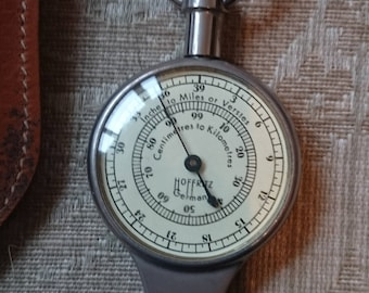 Vintage German Precision Map Measure Compass Germany Nautical Miles & Case