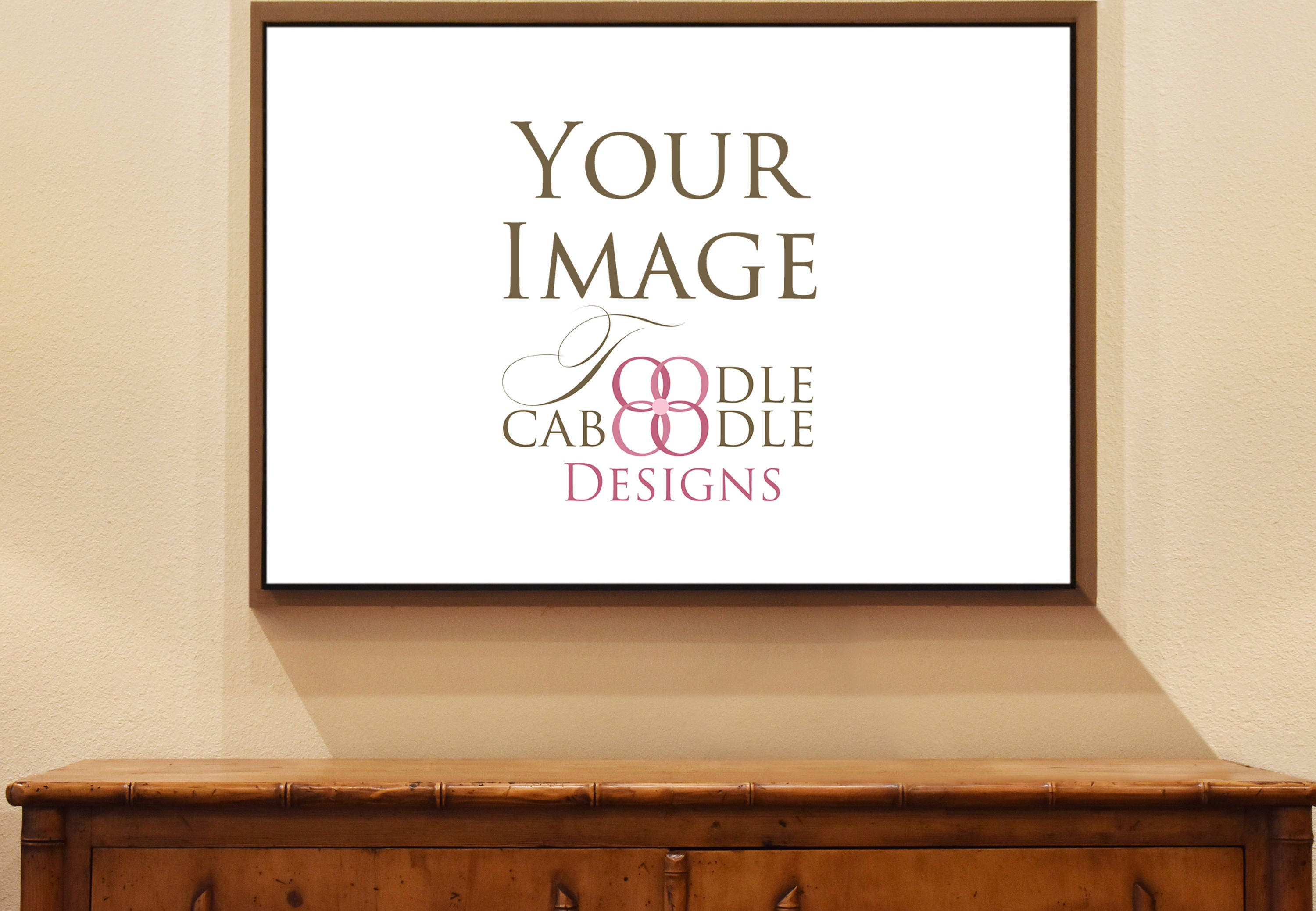 A1 living room large canvas real photo mockup, A1 wall art mock up ...