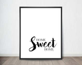 Home Sweet Home Art Print, Inspirational Quote, Digital Art, Digital Art Print, Digital artworks, Digital Print art, Digital art download