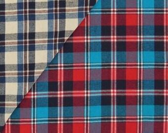 JIMMY JEAN plaid cotton flannel, 1 m